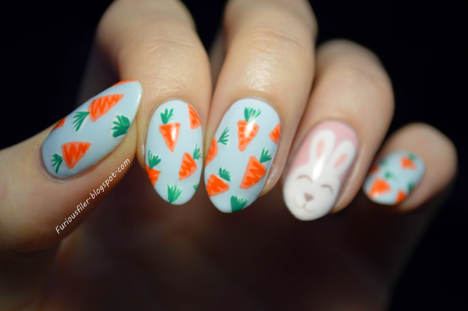 carrots, bunny, easter, spring, pastels