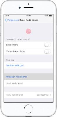 Cara Mengaktifkan Passcode Kode Sandi di iPhone