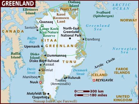 Groenlândia | Mapas Geográficos da Groenlândia