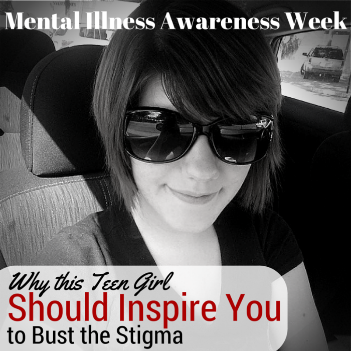 Find out how this teenage girl showed her support of Mental Illness Awareness Week with her art at www.HeartofMichelle.com #BustTheStigma #SayItForward #MentalHealthAwarness