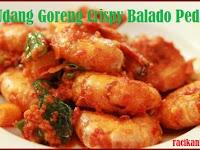 Resep bumbu dan cara memasak Udang Goreng Crispy Balado Pedas