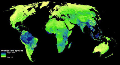 Mapearon como destruimos la biodiversidad