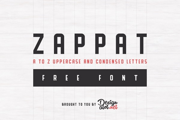 Download Font Edisi Februari 2017 - Zappat Free Font