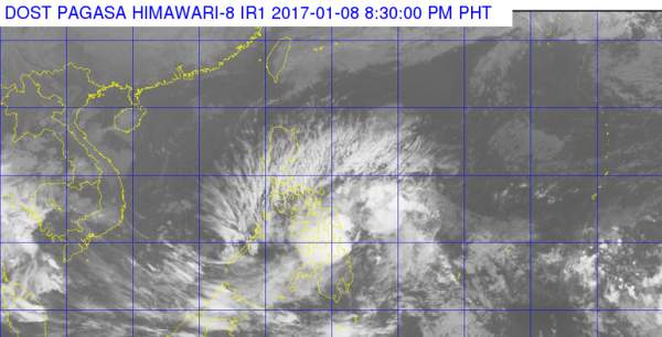 Bagyong AURING 2017 as of 8:30 PM, January 8