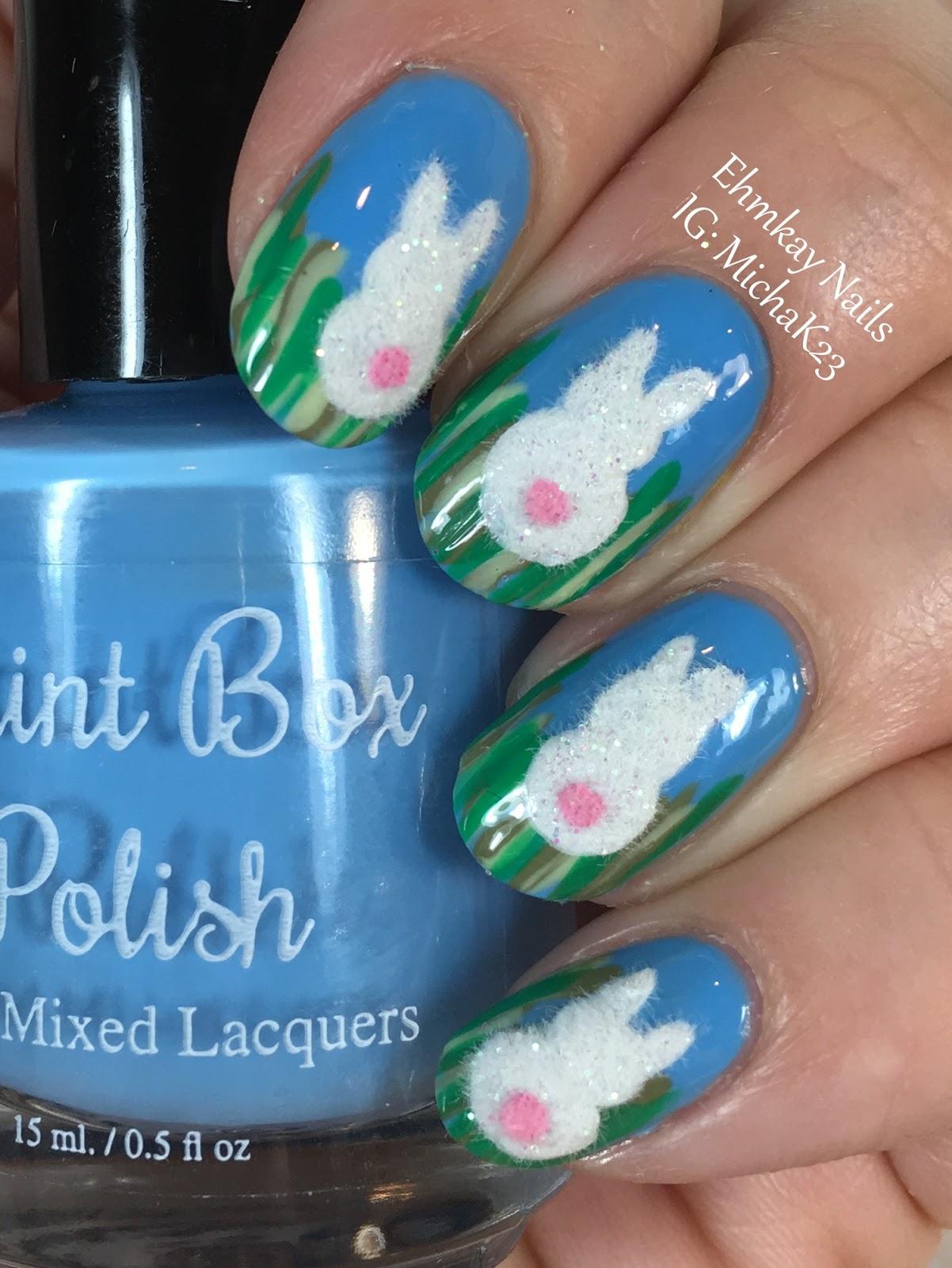 ehmkay nails: Easter Nail Art: Fuzzy Bunny Bottom Nail Art