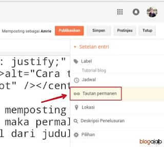 Cara mengubah url postingan blog