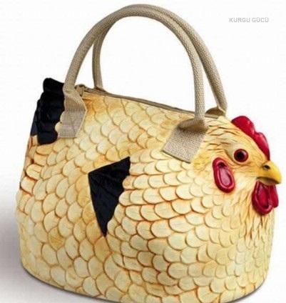 En İlginç Kadın Çantaları - Horoz Çantası - Kurgu Gücü