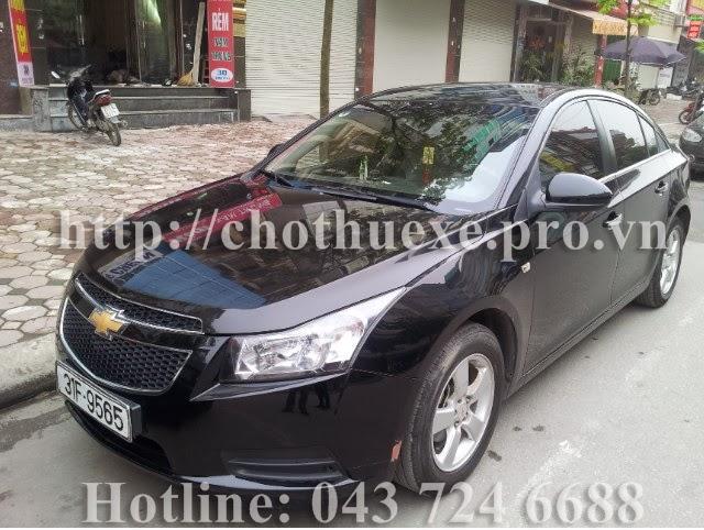 Cho thuê xe 4 chỗ Chevrolet Cruze tại Hà Nội