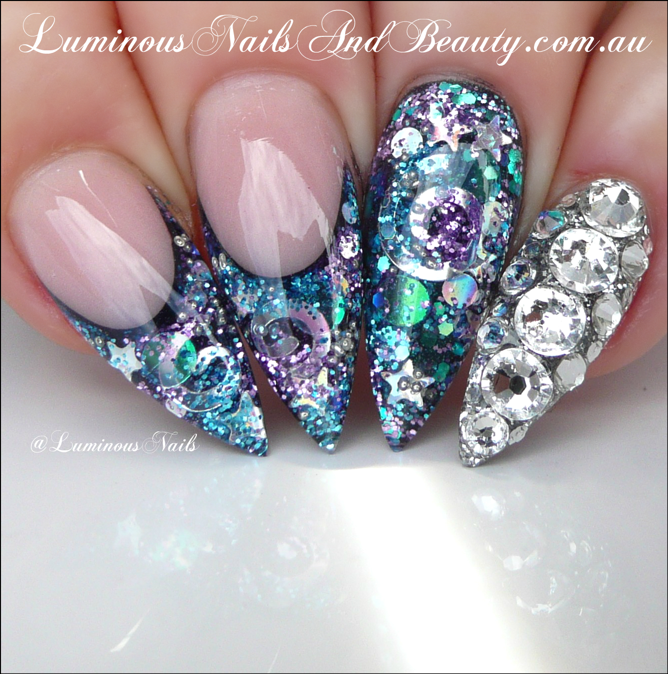 Luminous Nails: Galaxy Acrylic Nails... Available in Luminous Nails ...