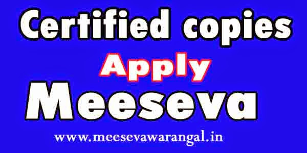 Certified copies of NOC under explosive Act Apply in Meeseva