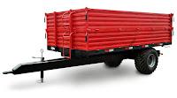 Kırmızı traktör römorku