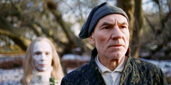 Joel Grey and Patrick Stewart in A Christmas Carol, 1999
