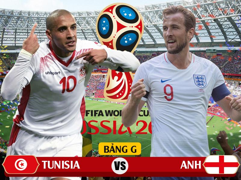 Xem trực tiếp Tunisia vs Anh trên kênh nào của VTV?