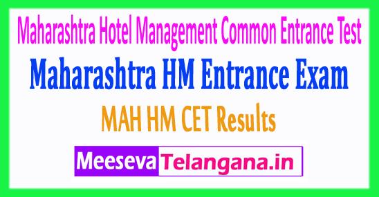 Maharashtra Hotel Management Common Entrance Test MAH HM CET Results 2019