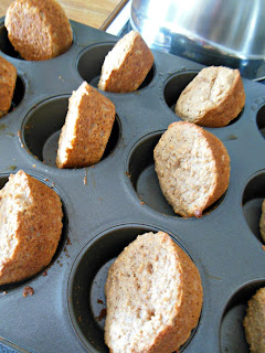 Bread Crumb Muffins, baked and cooling, ready to eat.