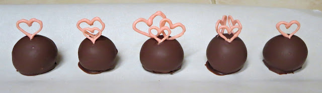 Pink Heart Cake Balls - Set with Hearts Standing Up & Differently Decorated