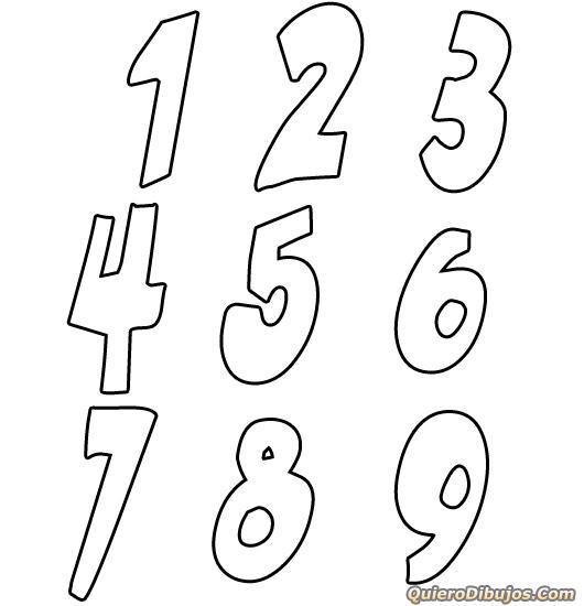 dibujos 5 chicas y números