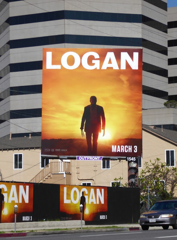 Logan movie billboard