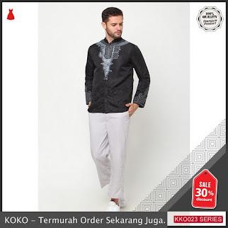 KKO23 JLN980 Baju Koko Tangan Panjang Muslim Pria Ala Artis BMGShop