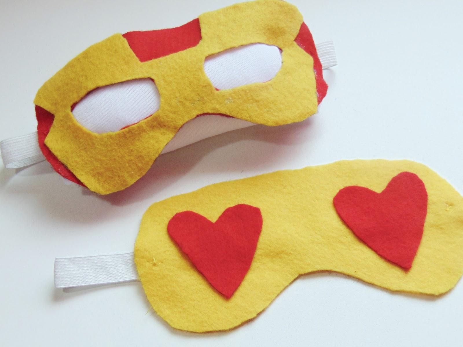 Máscaras para dormir heróis emoji, ally arruda