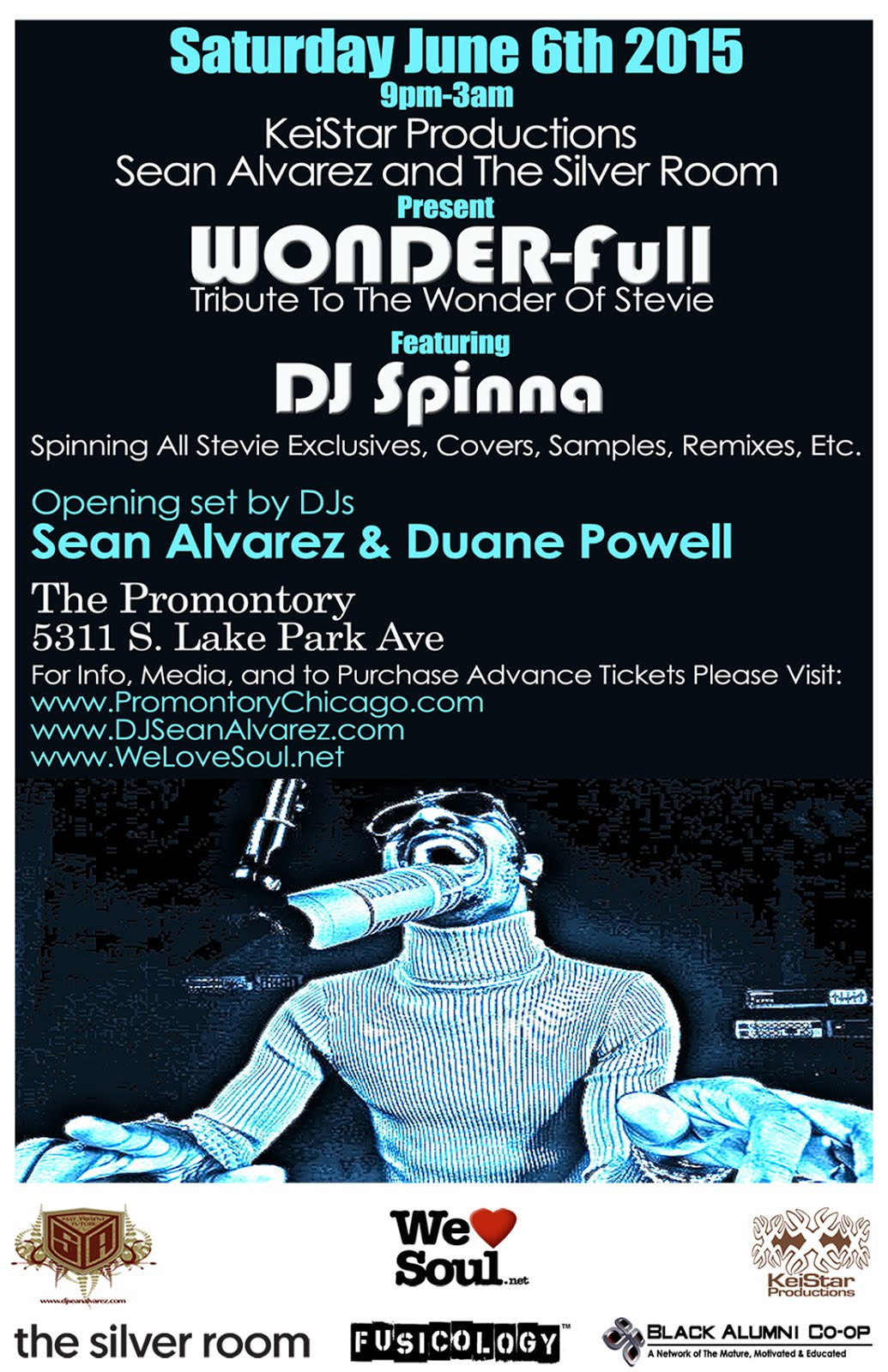 Sat June 6: WONDER-FULL w/DJ SPINNA