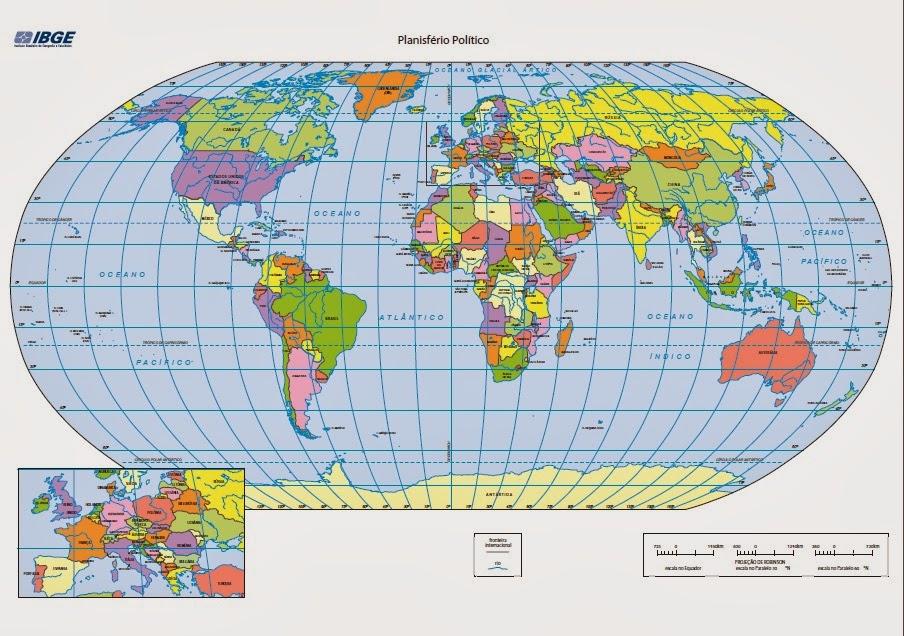 mapa mundi linha do equador GEOGRAFIA: DIVISÃO NORTE X SUL mapa mundi linha do equador