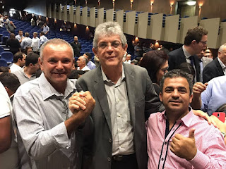 Prefeito de Baraúna participa do lançamento do Pacto Social do Governo do Estado