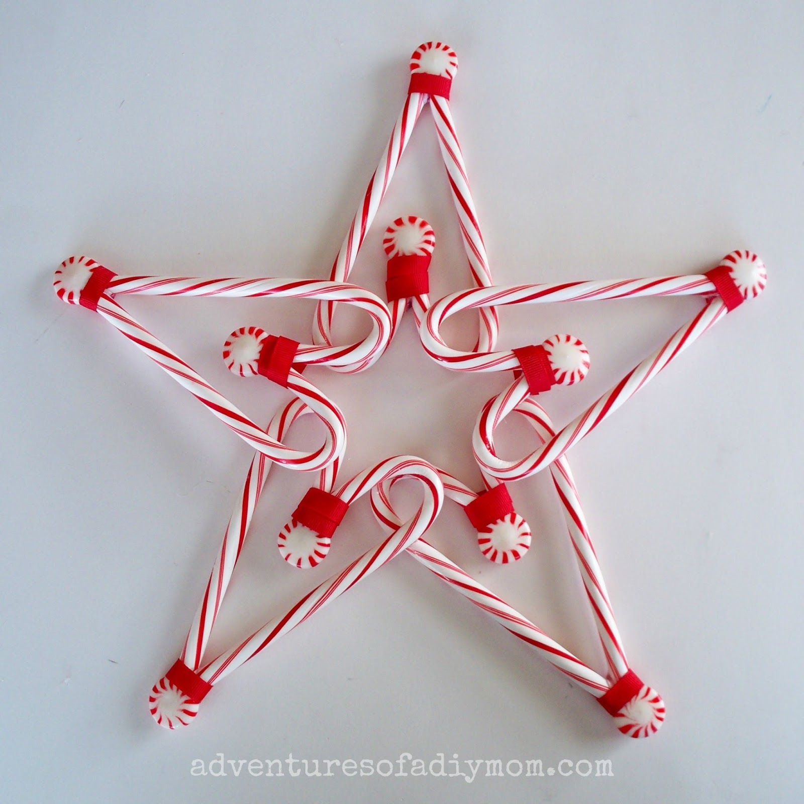 How to Make a Candy Cane Star Tree Topper