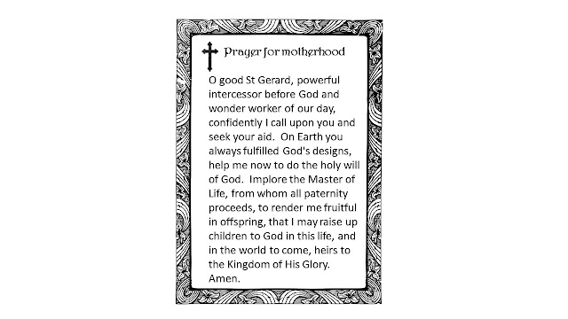 saint gerard prayer for fertility