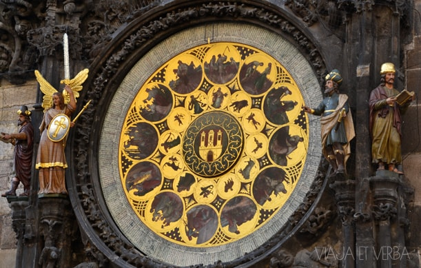Reloj astronómico de Praga, República Checa. Por Viaja et verba