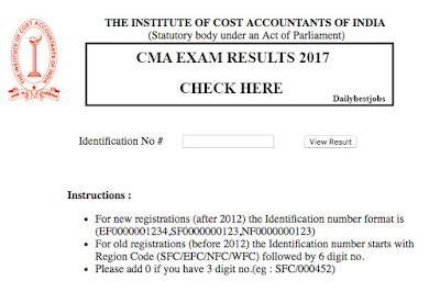 CMA Exam Results 2017