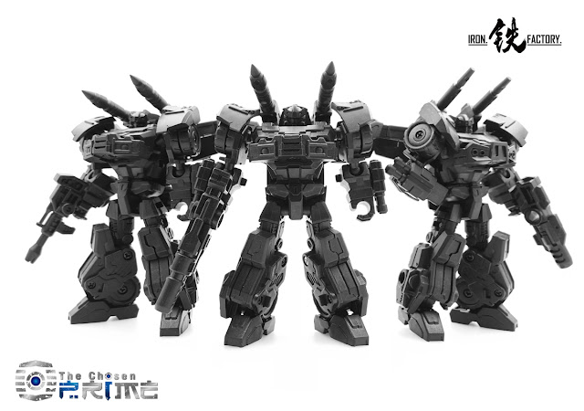Iron Factory IF-EX12 War Within Prowl and Buddies, now up for pre-order!