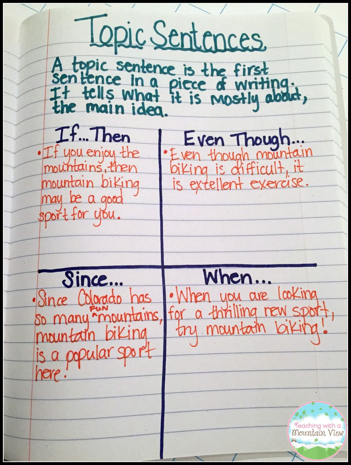 how to write an amazing topic sentence for kids