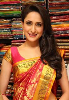 Pragya Jaiswal in Kanjiwaram Saree at Mangalam Showroom Launch