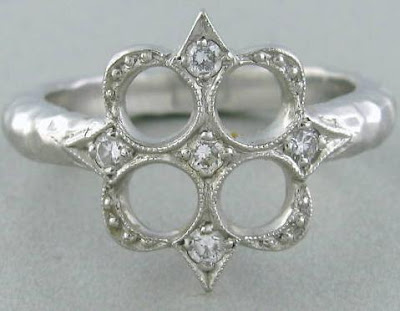 Estate Cathy Waterman platinum and diamond ring.