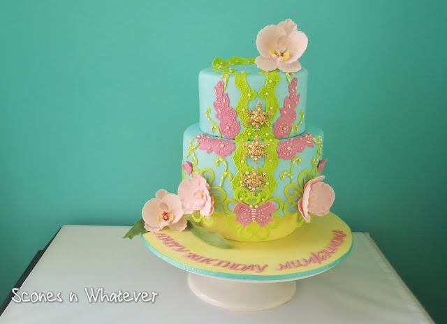 Scones N Whatever: Peranakan Inspired Kebaya cake for