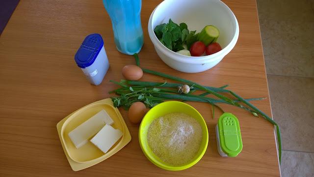 Zutaten für eine Gemüsequiche ohne Boden (c) by Joachim Wenk