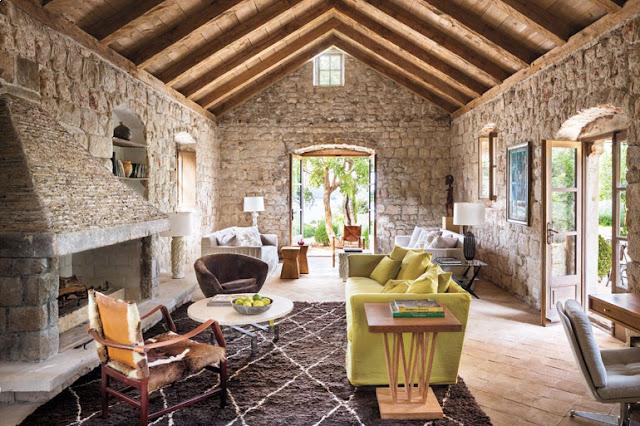 Дизайнерские проекты.Старинный дом 15-го века в Хорватии преобразован в необыкновенный «Остров отдыха»