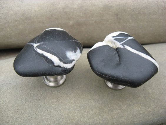 beach stone cabinet knobs