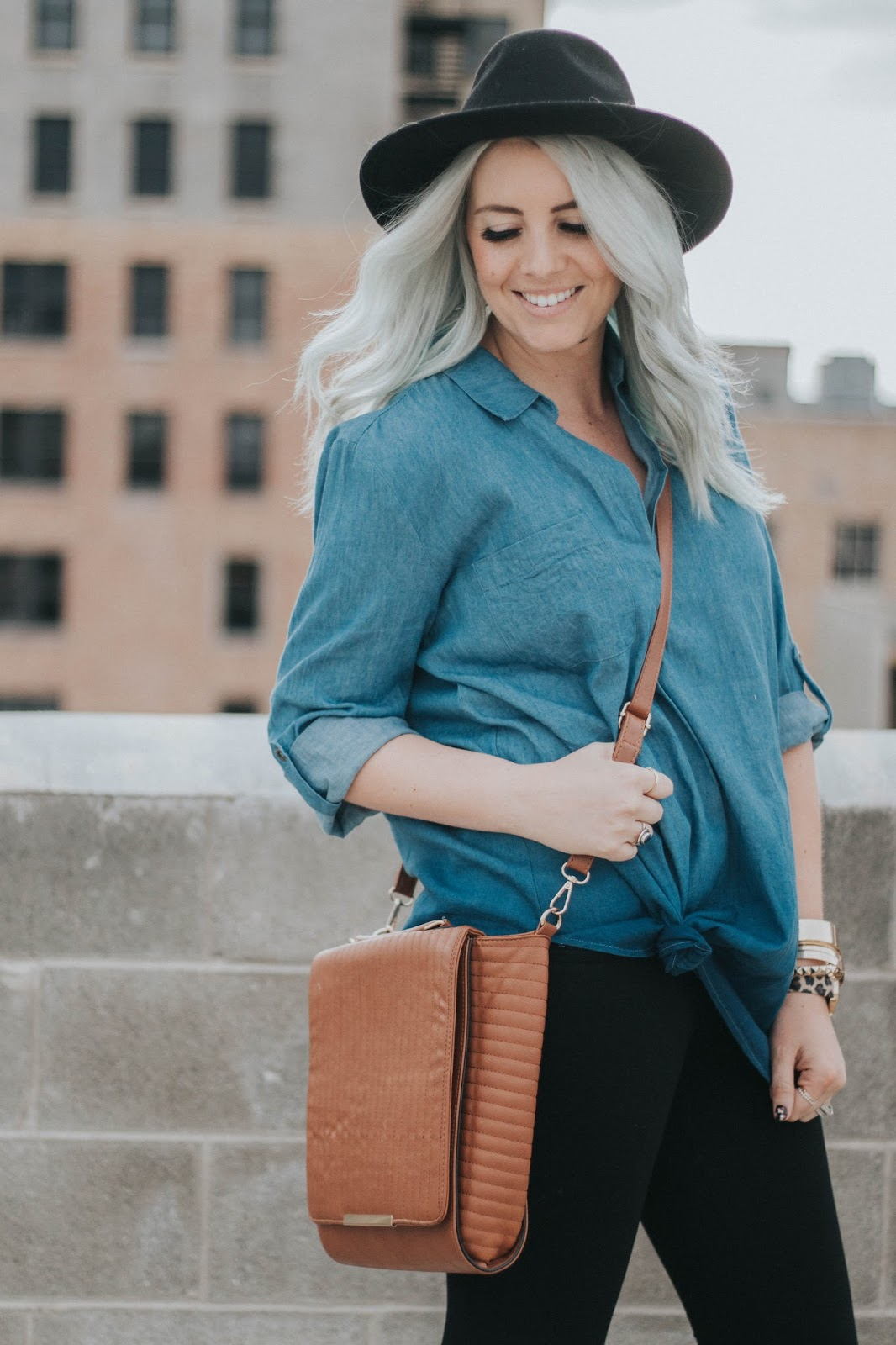 Goldies, Goldies Denim Ombre Top, Utah Fashion Blogger