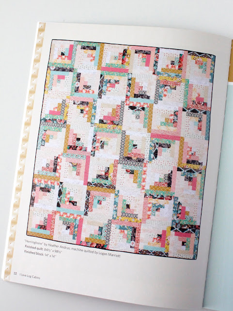 Herringbone quilt from the book I Love Log Cabins from Martingale