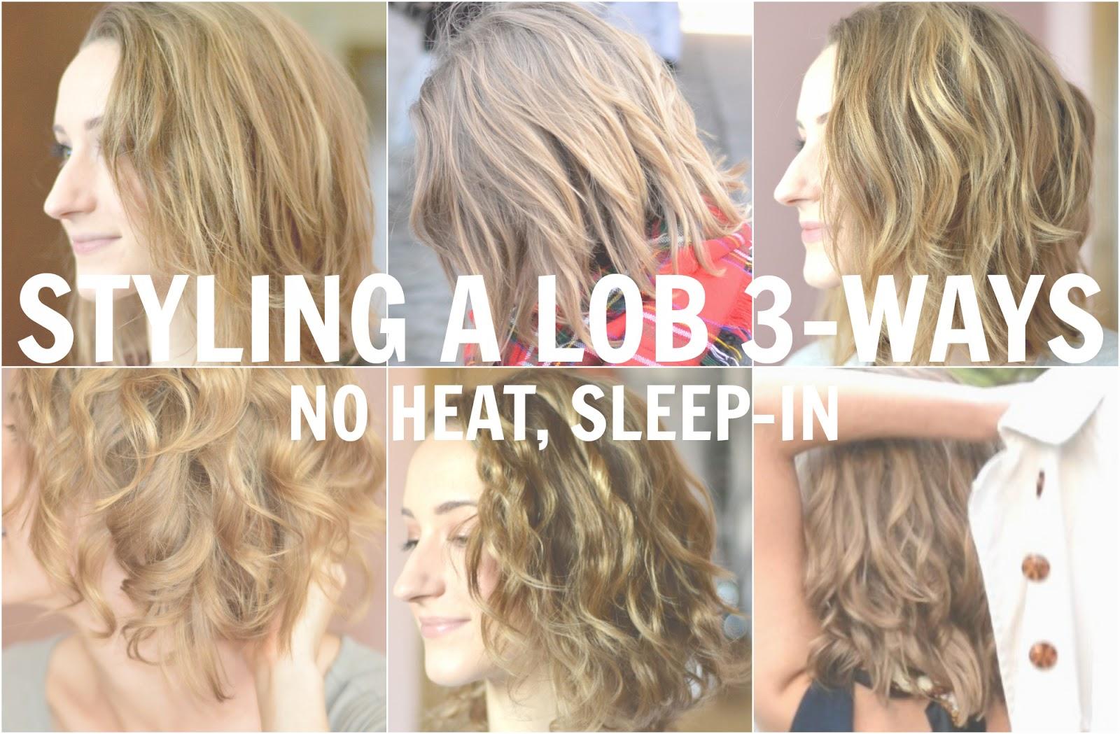 3 No Heat Lob Hair Styles Natural Loose Waves