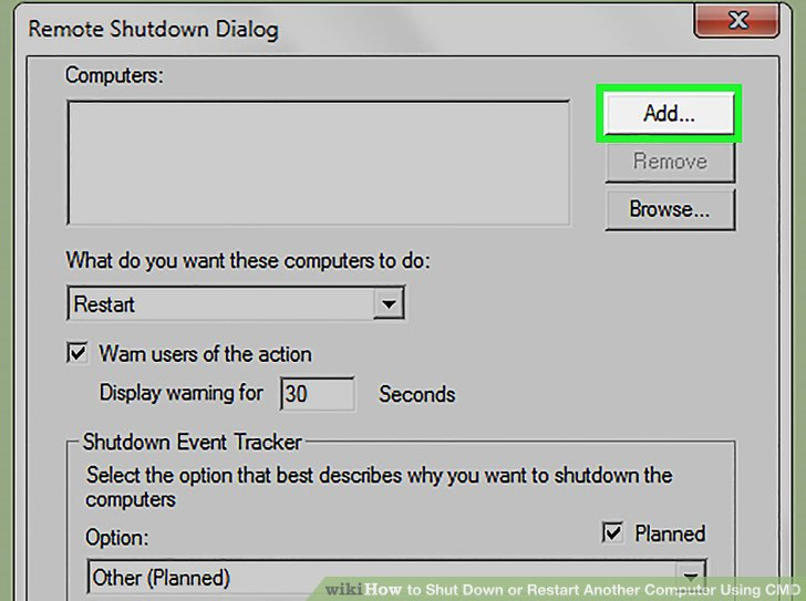 Using cmd to shutdown another computer | Shutdown Your Computer or a