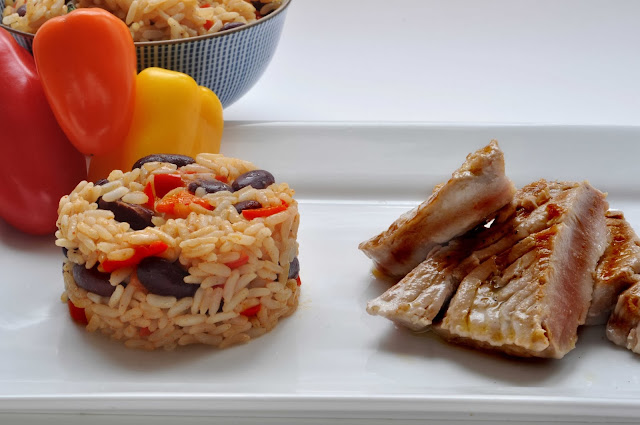 Seared Tuna with Mexican Rice ~ Simple Food