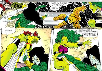 Gamora se enfrenta a Pícara y a Hulka