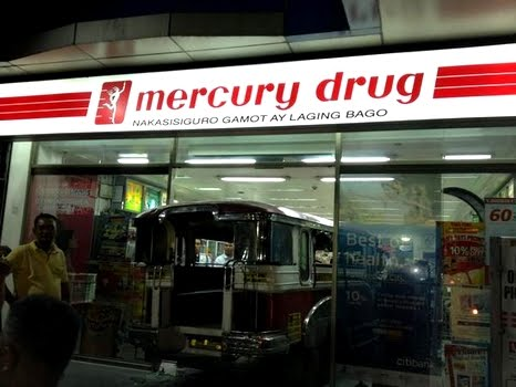 jeepney slams mercury drugstore photo