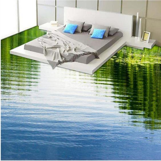 Sàn 3D mặt hồ nước
