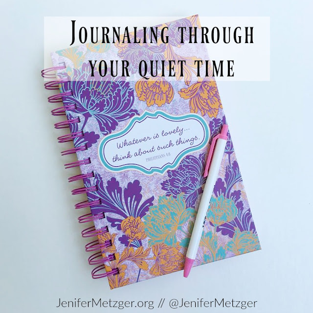Journaling through your quiet time. #journaling #dayspring #quiettime