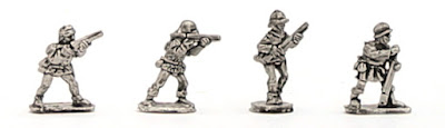 H-1022 WOTR Handgunners - SINGLES - (32 figures + 4 bases)