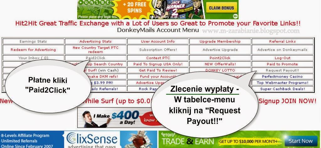 Zlecenie wypłaty w DonkeyMails